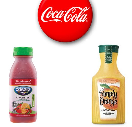 Coca-cola owns Simply Orange and Odwalla